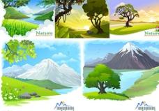 雪山背景图片