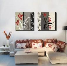现代个性花草装饰画