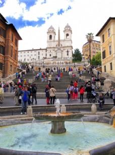 罗马西班牙广场图片