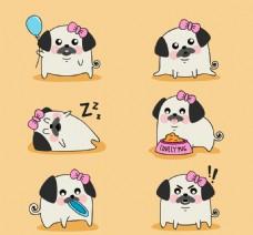 卡通矢量狗狗动物