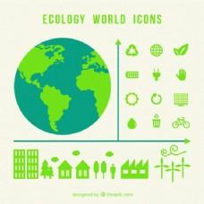生态世界的图标