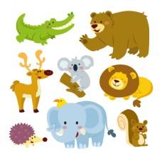 矢量可爱的动物集合