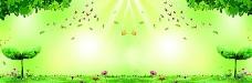 绿色清新自然背景