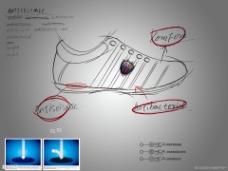 运动鞋设计PPT模板下载