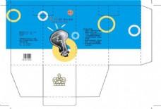 燈泡包裝設計圖片模板下載
