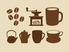 咖啡用具素材