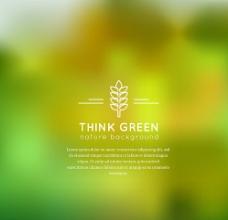 绿色植物模糊背景矢量图图片