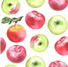 水彩绘水果苹果插画