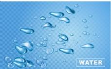 晶莹剔透的水滴插画