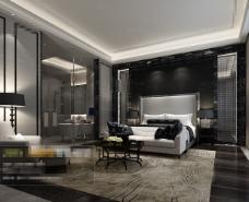 美式卧室效果图设计素材