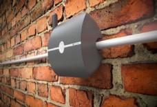 灰色实用的报警器产品jpg素材
