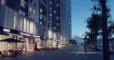 高清商業街素材圖片