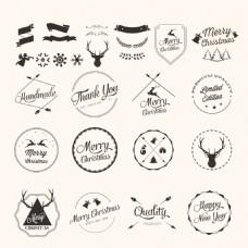 各种圣诞元素标签素材