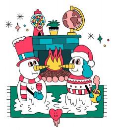 创意有趣圣诞插画