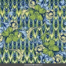 绿色和蓝色色调的装饰背景
