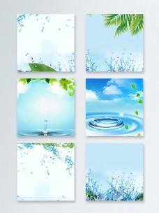 绿色水花装饰主图背景