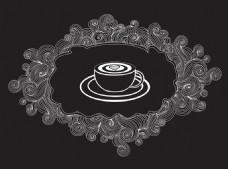 手绘时尚咖啡插画