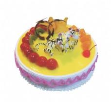 奶油樱桃蛋糕素材