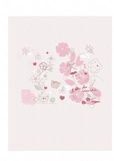 花纹花边矢量印花图案