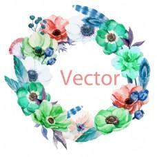 时尚唯美水彩绘花卉插画