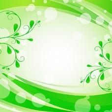 绿色清新背景花边电视沙发背景墙图片