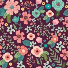 时尚彩色卡通花朵植物