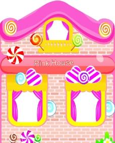 卡通可愛糖果屋圖片