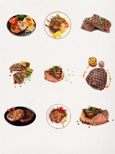 餐厅牛排美食免扣PNG元素