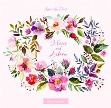 时尚清新水彩绘花卉插画