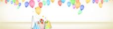 彩色气球淘宝海报背景图 23