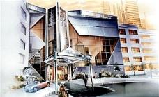 手绘建筑效果图 建筑效果图 手绘效果图 水彩效果图_52