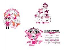 粉色矢量素材
