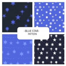卡通五角星抽象图案