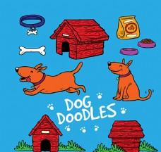 宠物狗和宠物用品图片