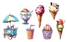 冰淇淋psd源文件