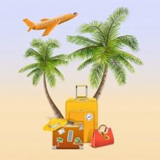 时尚创意旅行插画