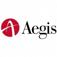 AEGIS公司标志红黑A字母LOGO设计