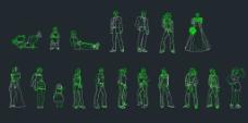 人物CAD立面图图片