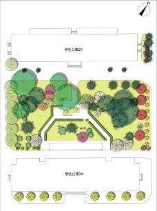 学生公寓植物配置图片