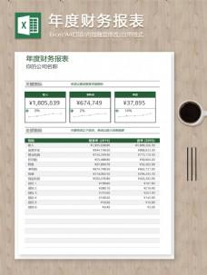 公司年度财务报表关键指标明细excel表格