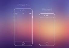 苹果6炫丽线稿图片