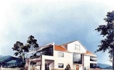 手绘建筑效果图 建筑效果图 手绘效果图 水彩效果图_40