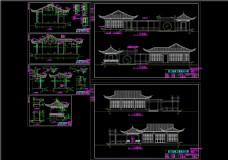 桐乡市老人公寓CAD景观图纸