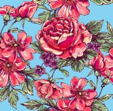 手绘时尚花朵插画