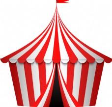 创意马戏团帐篷插画