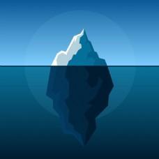 蓝色创意北极冰山