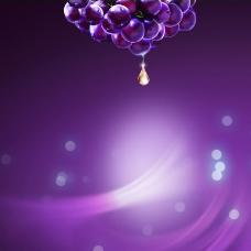 淘宝浪漫紫色炫酷光晕直通车钻展背景