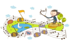 卡通指挥家 乐谱 琴谱图片