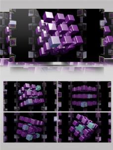 紫色光束模仿视频素材