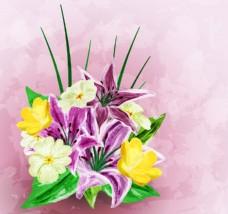 水彩绘艺术花朵插画